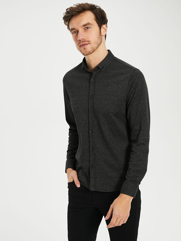 Erkek Slim Fit Uzun Kollu Gömlek