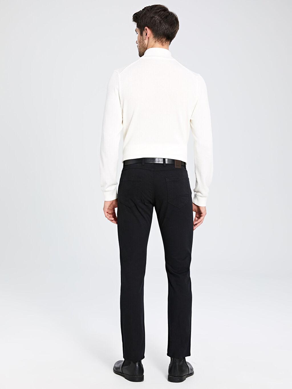 Erkek Regular Fit Armürlü Pantolon