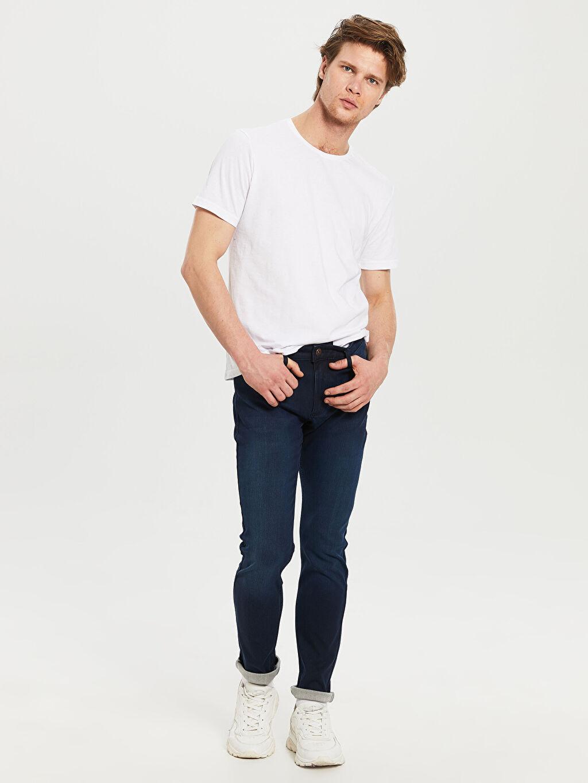 %71 Pamuk %25 Polyester %4 Elastan Normal Bel Extra Dar Jean 770 Super Skinny Fit Jean Pantolon