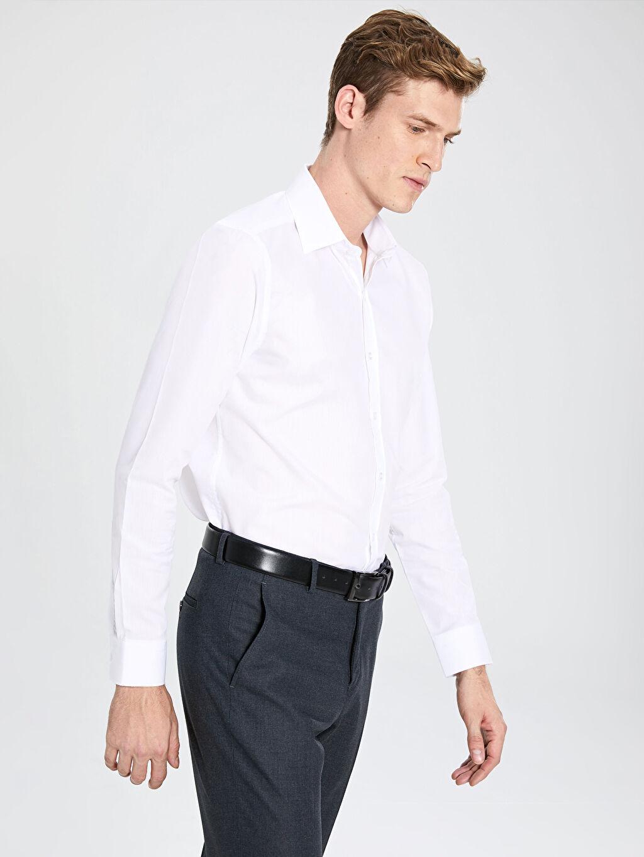 Erkek Slim Fit Poplin Gömlek 2'li