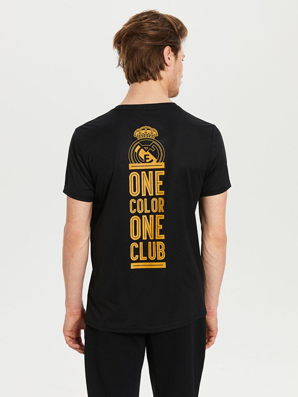 %100 Polyester Real Madrid Baskılı Aktif Spor Tişört