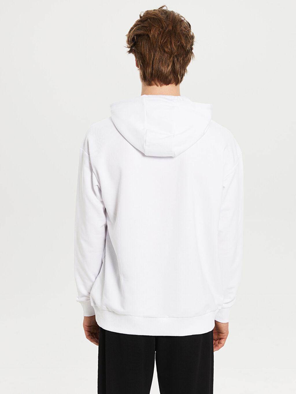 Erkek La Casa De Papel Kapüşonlu Kalın Sweatshirt