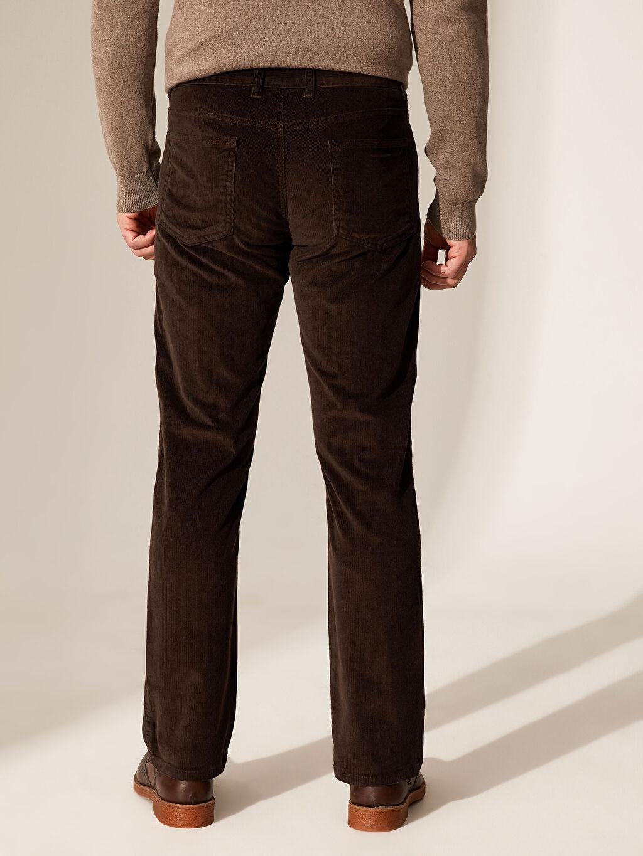 %98 Pamuk %2 Elastan Normal Kalıp Kadife Chino Pantolon