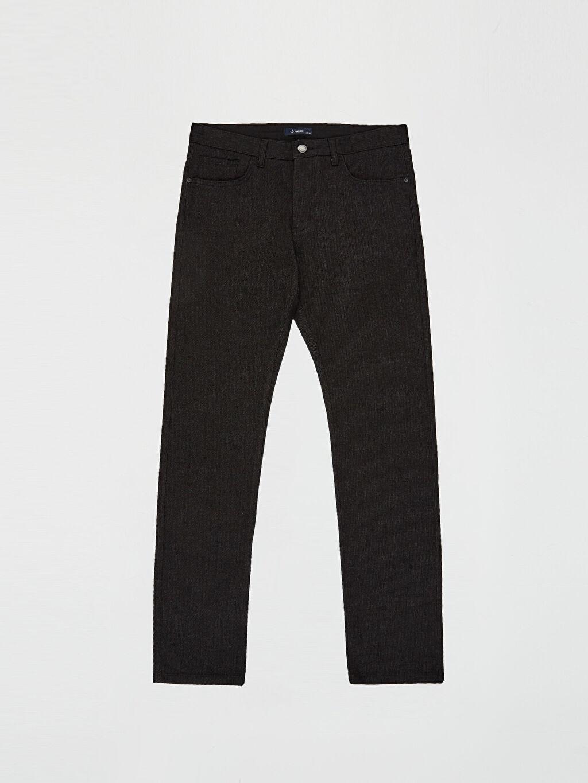 LC Waikiki Siyah Normal Bel Dar Pilesiz Pantolon