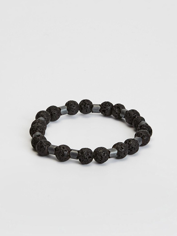 Siyah Vidinli Doğal Taş Bileklik 9WB007Z8 LC Waikiki