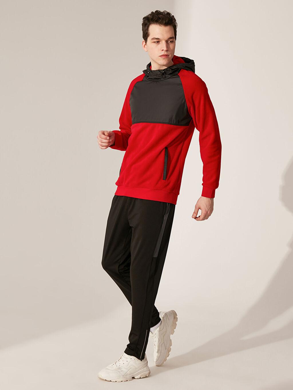 %100 Polyester Kapüşonlu Aktif Spor Polar Sweatshirt