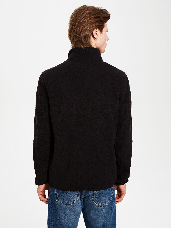 Erkek Dik Yaka Polar Basic Sweatshirt