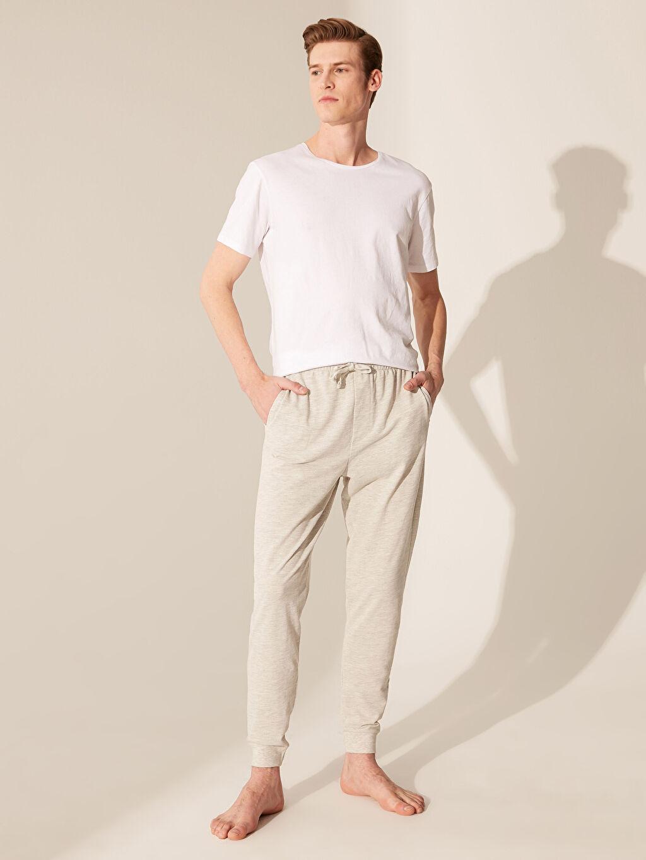 %71 Pamuk %29 Polyester Pijamalar Standart Standart Kalıp Jogger Pijama Altı