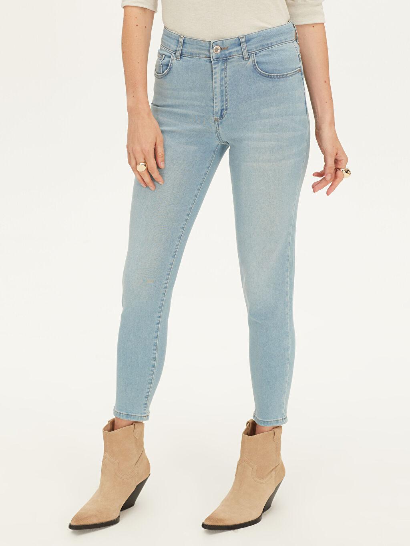 Kadın Yüksek Bel Skinny Jean Pantolon