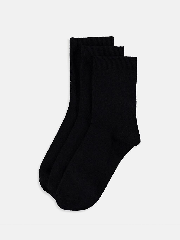 Siyah Soket Çorap 3'lü 9W5867Z8 LC Waikiki