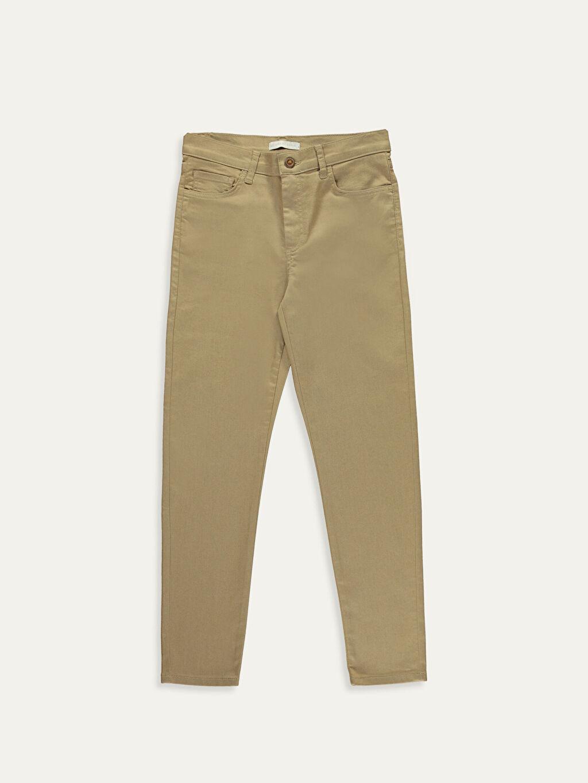 Bej Bilek Boy Slim Pantolon 9W9184Z8 LC Waikiki