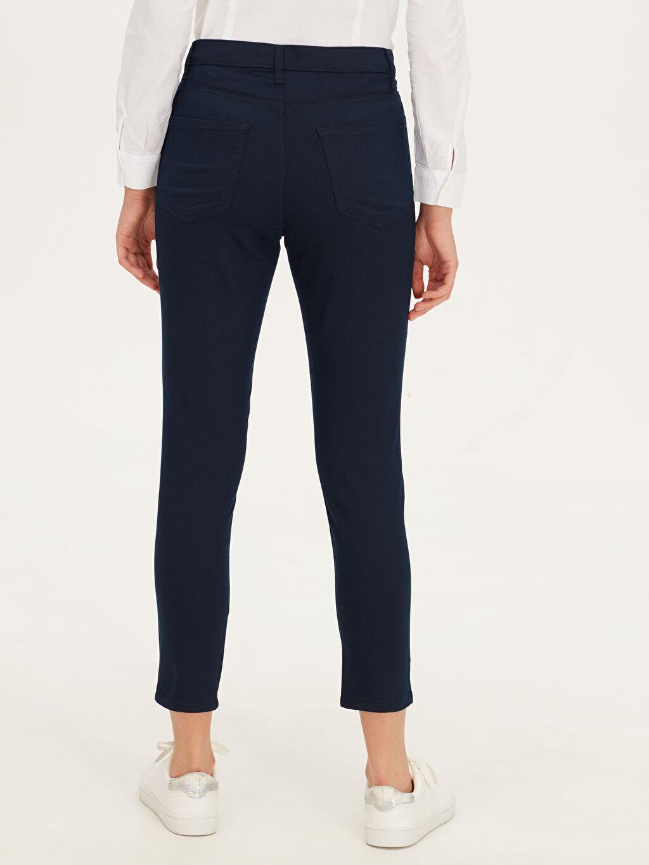 %67 Pamuk %29 Polyester %4 Elastan Bilek Boy Slim Pantolon