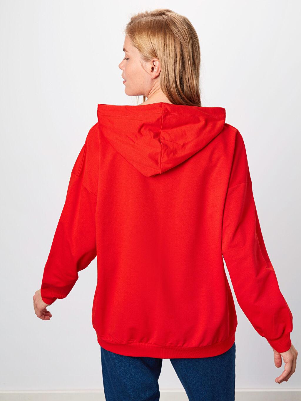 %70 Pamuk %30 Polyester Kapüşonlu Pamuklu Sweatshirt