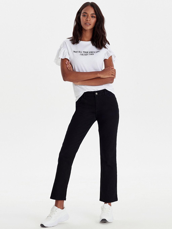 Siyah Normal Bel Boru Paça Jean Pantolon 9WG795Z8 LC Waikiki