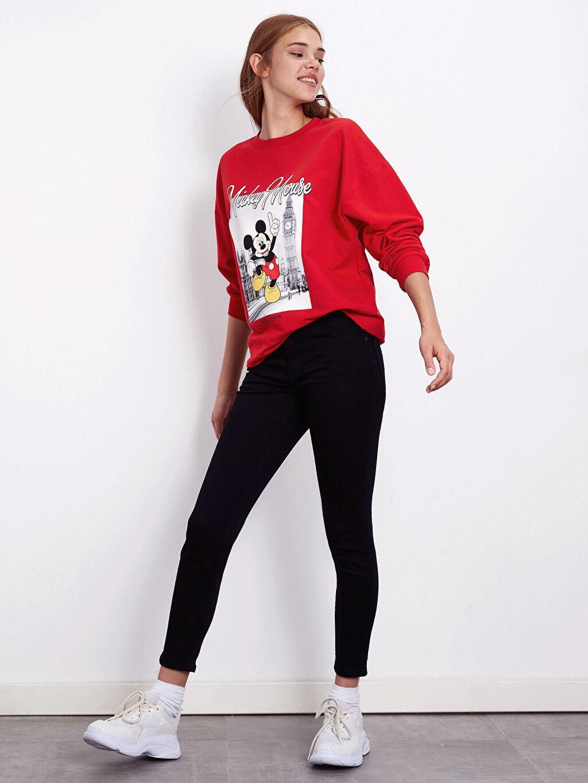%98 Pamuk %2 Elastan Esnek Dar Jean Normal Bel Normal Bel Skinny Jean Pantolon