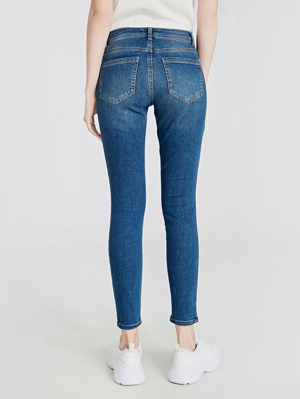 %84 Pamuk %14 Polyester %2 Elastan Sökük Detaylı Skinny Jean Pantolon