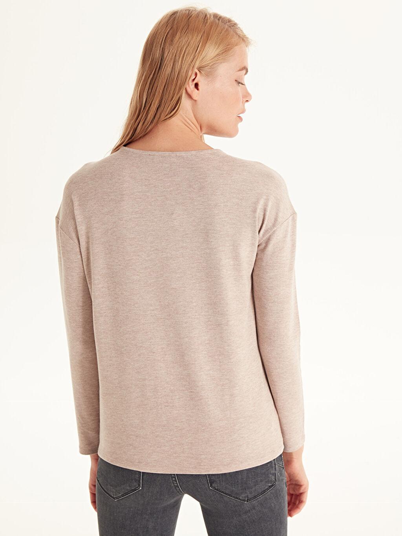 %63 Polyester %34 Viskon %3 Elastan Nakış İşlemeli Tişört