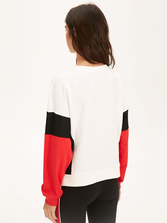 %70 Pamuk %30 Polyester Slogan Baskılı Pamuklu Sweatshirt