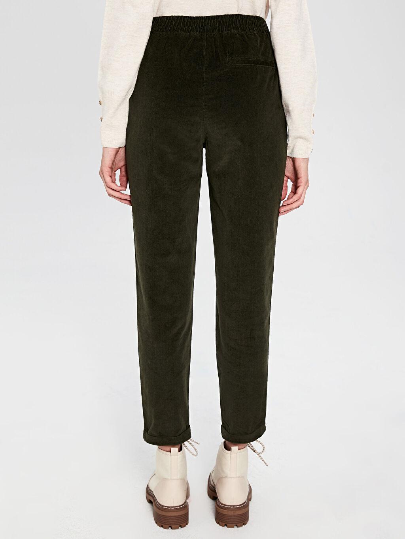 Kadın Bilek Boy Kadife Havuç Pantolon