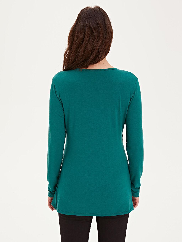 Kadın Emzirme Özellik Viskon Hamile Tişört