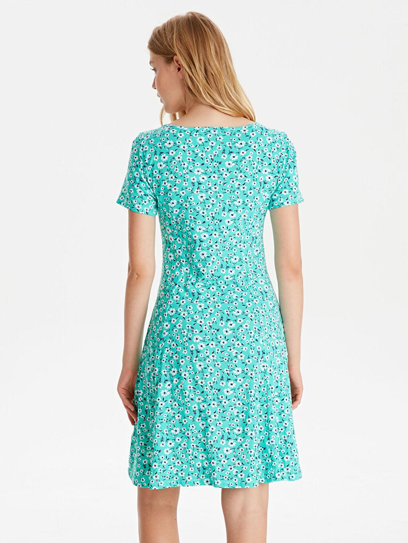 Kadın Çiçek Desenli Pamuklu Elbise