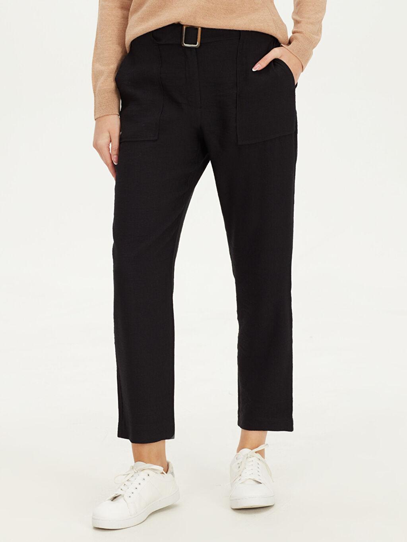 Kadın Beli Kemerli Havuç Pantolon