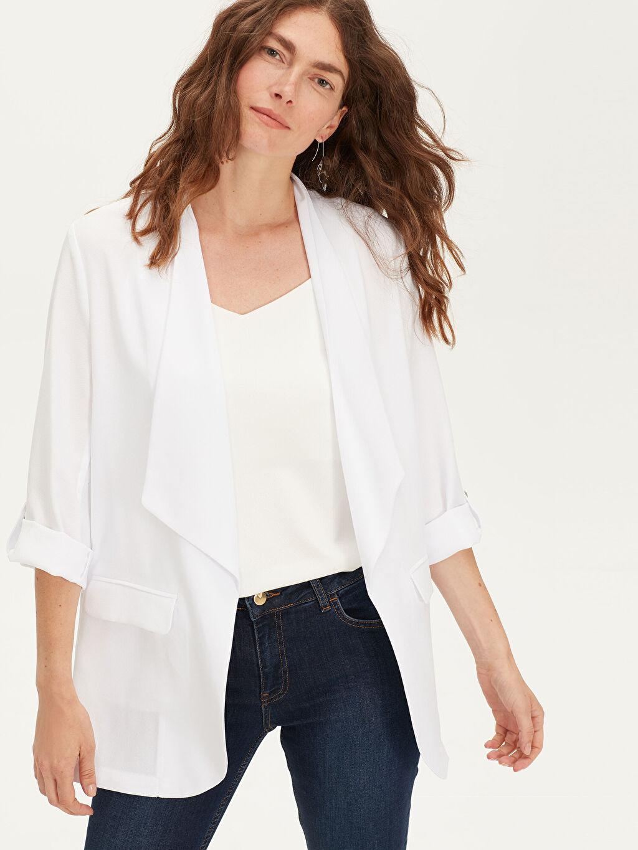 Beyaz Blazer Ceket 9WJ451Z8 LC Waikiki