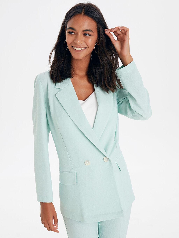 %97 Polyester %3 Elastan Ceket Blazer Ceket