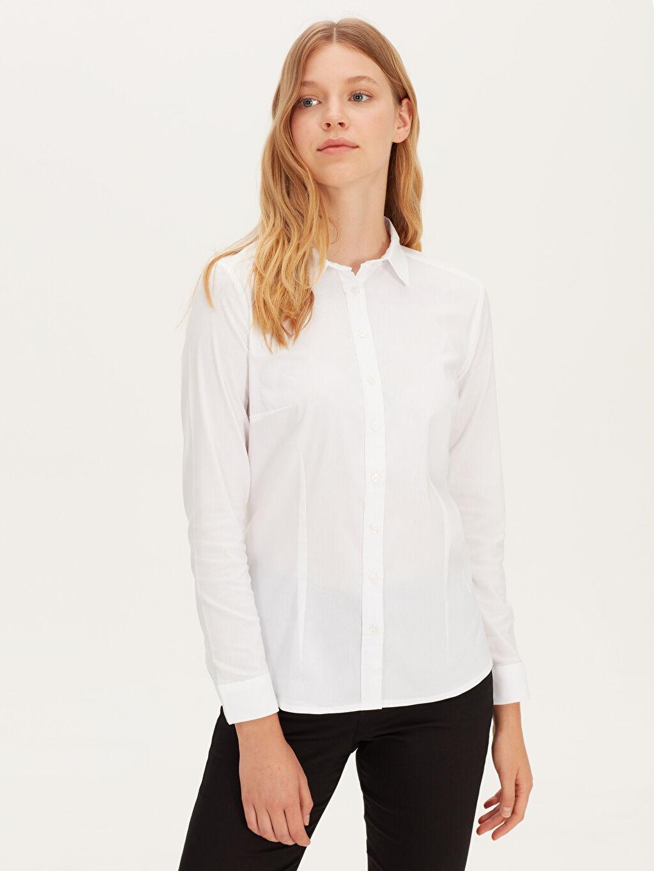Beyaz Düz Poplin Gömlek 9WK870Z8 LC Waikiki
