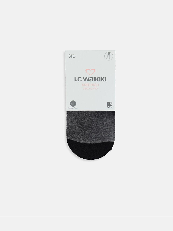 Siyah Dizaltı Çorap 9WL759Z8 LC Waikiki