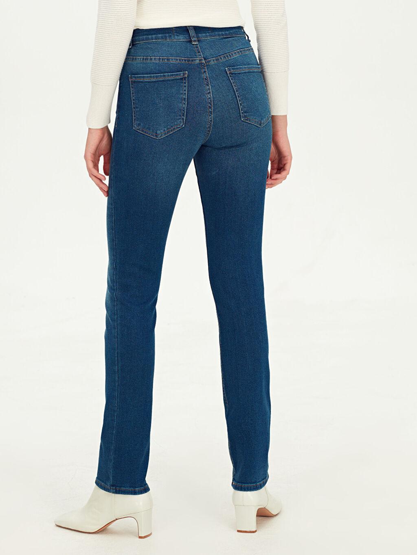 Kadın Yüksek Bel Çizme Paça Jean Pantolon