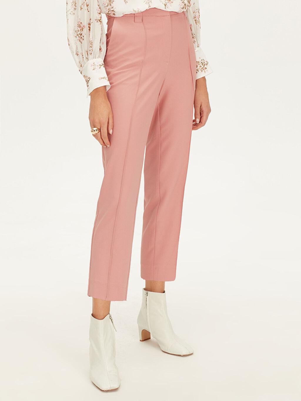 Kadın Yüksek Bel Esnek Havuç Pantolon