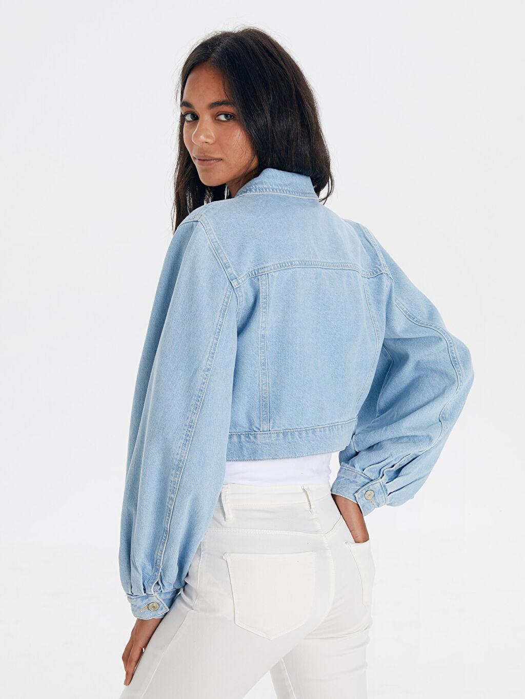 Kadın Kısa Jean Ceket