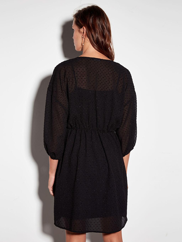 Kadın Dokulu Kumaştan Şifon Elbise