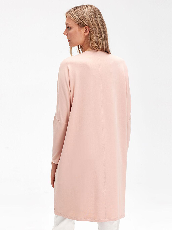 Kadın Cep Detaylı Salaş Sweatshirt