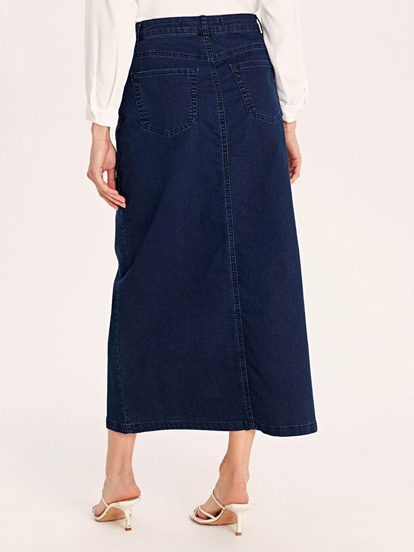 Kadın Uzun Jean Etek