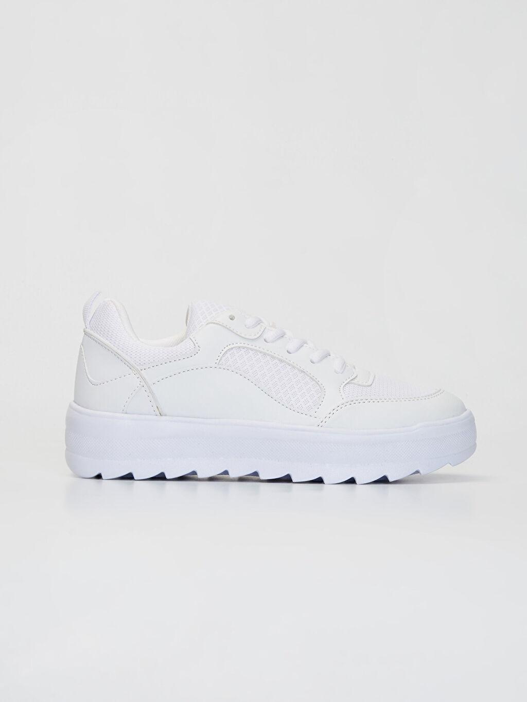 Beyaz Kadın Kalın Taban Günlük Spor Ayakkabı 9WM770Z8 LC Waikiki