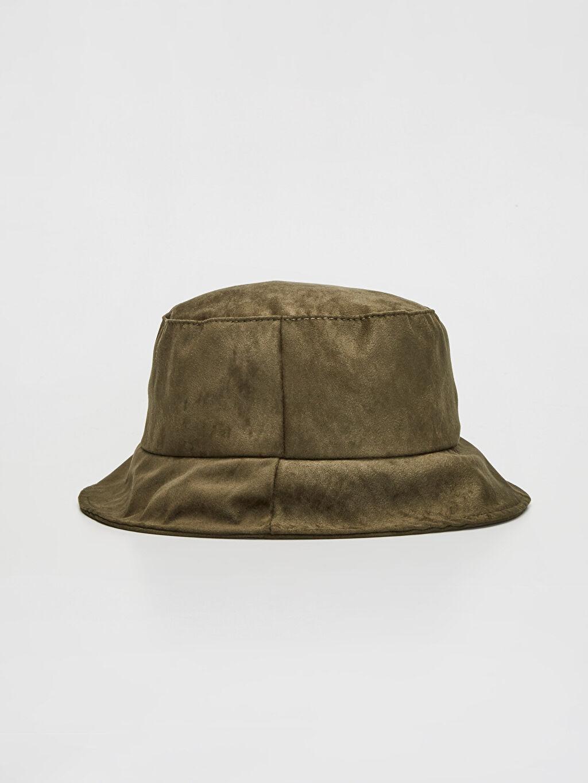 Haki Balıkçı Süet Şapka 9WN167Z8 LC Waikiki