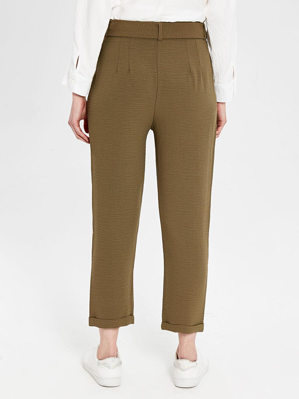 Kadın Bilek Boy Kemerli Harem Pantolon