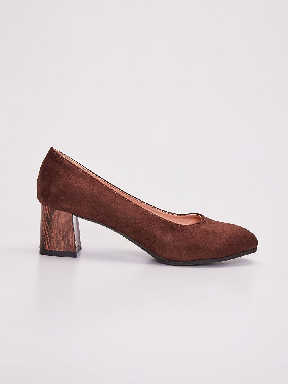 Kahverengi Kadın Süet Topuklu Ayakkabı 9WN657Z8 LC Waikiki