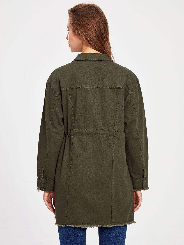 Kadın Pamuklu Cepli Ceket