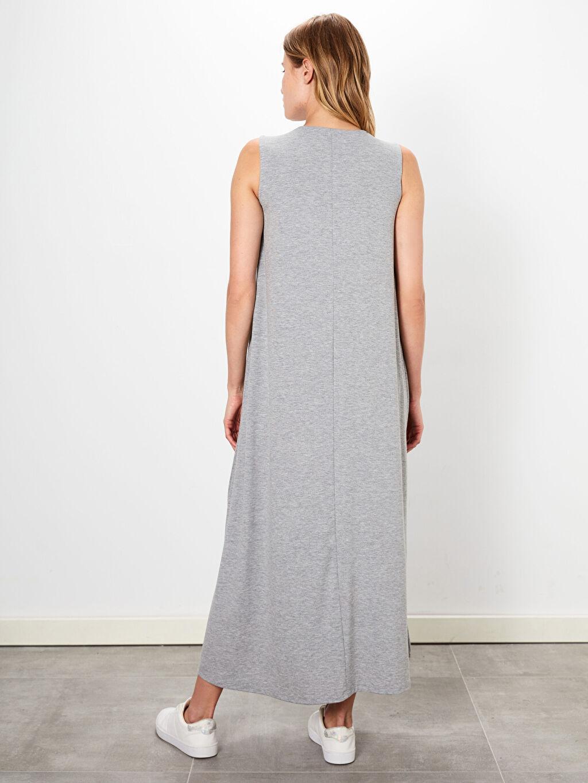 Kadın Düz Basic Kolsuz Salaş Elbise