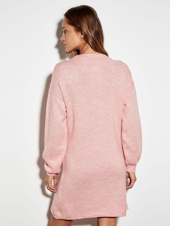 %77 Akrilik %23 Polyester Kalın Triko Elbise