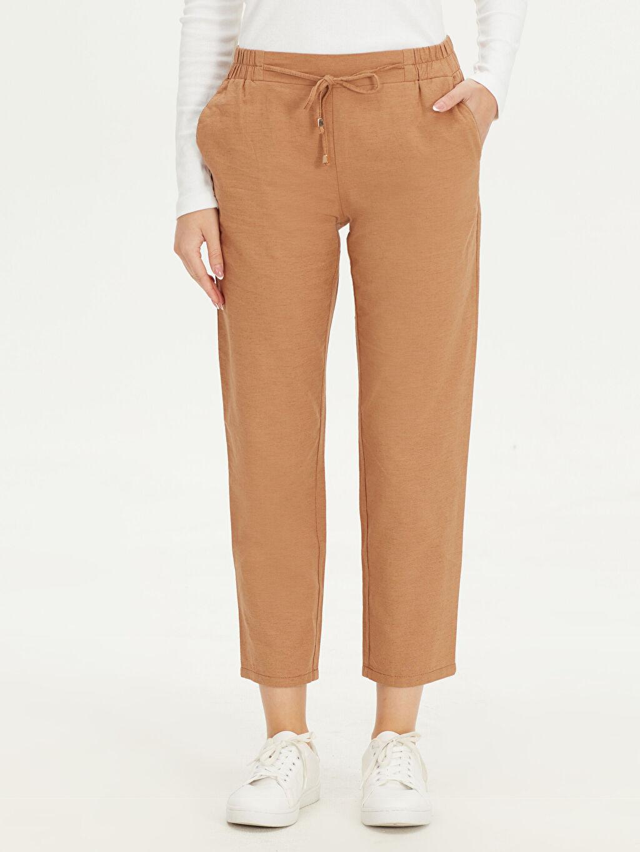 Kadın Yüksek Bel Havuç Kesim Pantolon