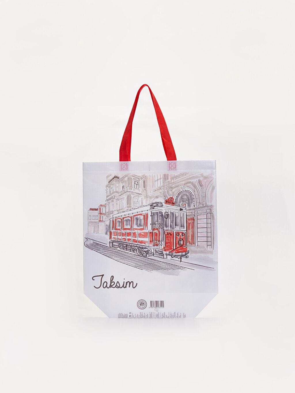 %100 Polipropilen  Taksim Baskılı El çantası
