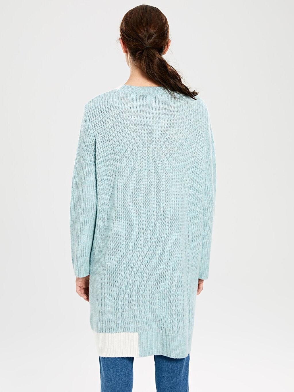 %83 Akrilik %17 Polyester Şerit Detaylı Triko Tunik