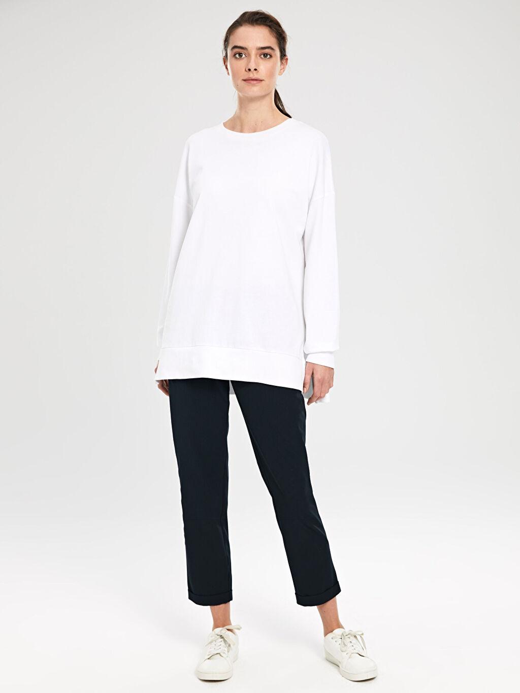 %87 Polyester %13 Elastan Standart Normal Bel Esnek Lastikli Bel Pantolon Beli Lastikli Esnek Pantolon