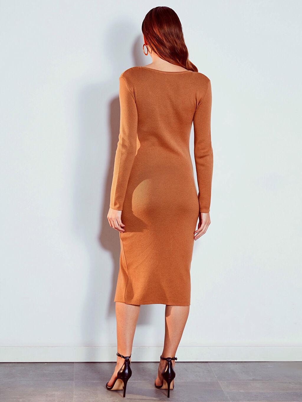 Kadın Yırtmaç Detaylı Elbise