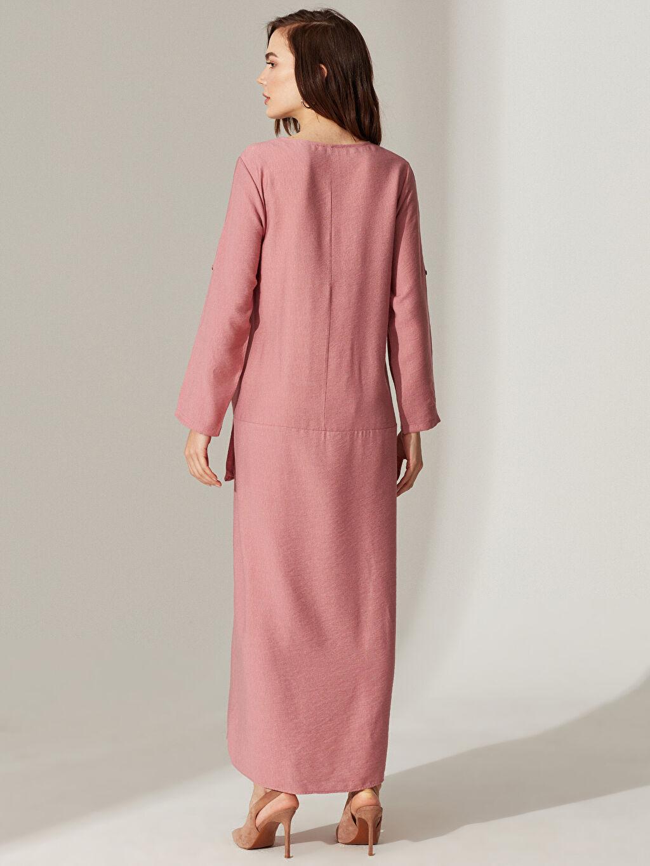 Kadın Cep Detaylı Salaş Hamile Elbise