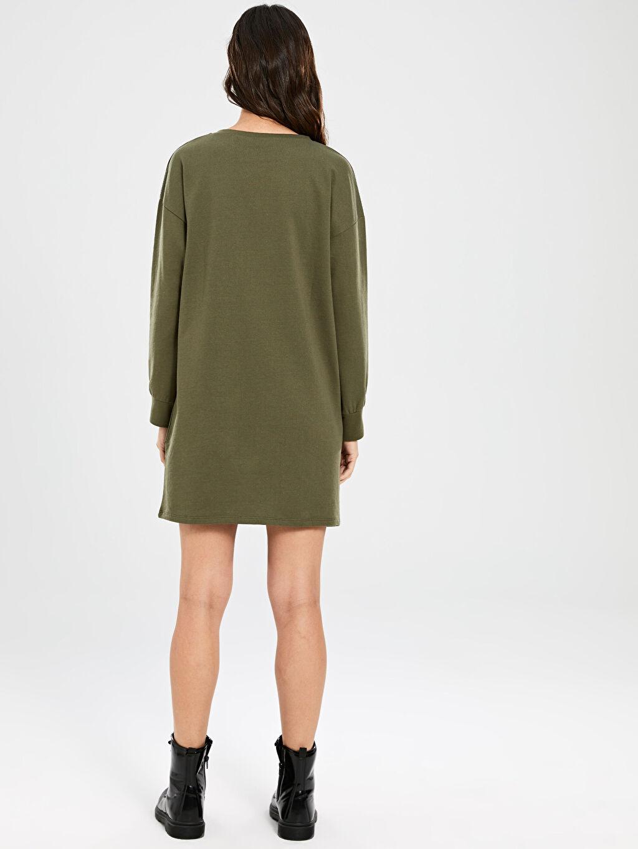Kadın Kamuflaj Cep Detaylı Elbise